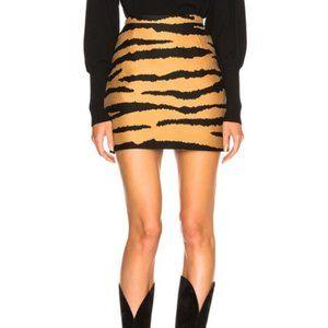 Proenza Schouler Tiger Wool Blend Skirt Camel/Blck
